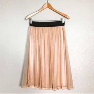 PINS and NEEDLES Blush Pink Tulle Skirt